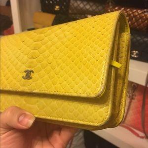CHANEL python WOC yellow